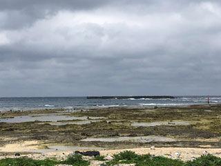 一気に荒れた海