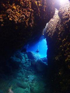 親子岩洞窟