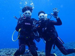 体験ダイビング水中