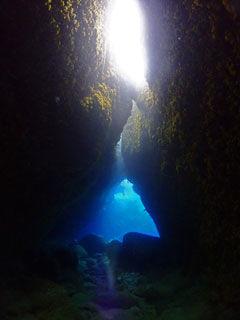 洞窟の景色