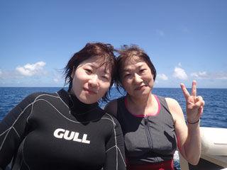 体験ダイビングチーム