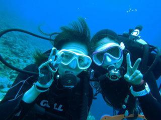 水中体験ダイビング