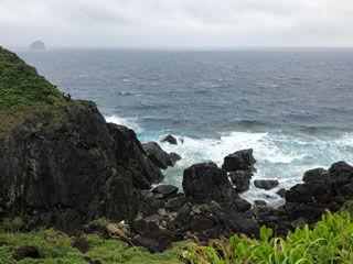 島の南側の海
