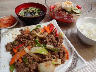 ビビン冷麺セット
