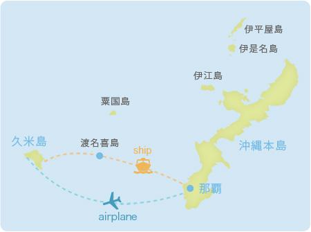 久米島へのアクセス
